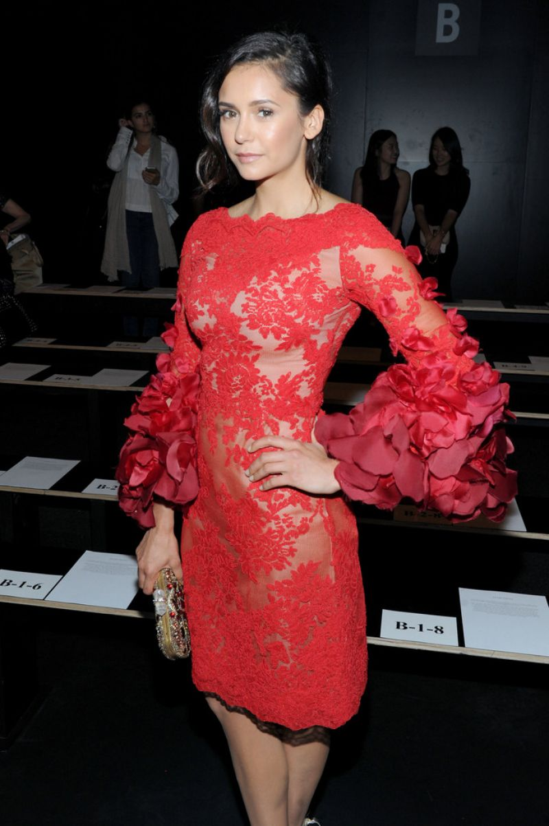 Nina Dobrev The Marchesa Spring Summer 2017 Fashion Show