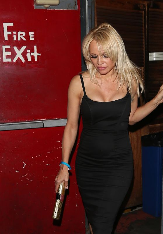 Pamela Anderson - Leaving the Troubadour in West Hollywood 9/25/ 2016