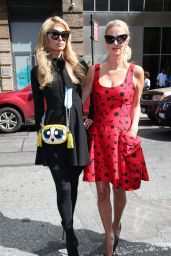 Paris and Nicky Hilton are seen out in New York City 9/20/2016