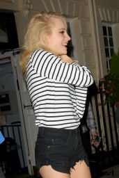 Pixie Lott -Leaving the Theatre Royal Haymarket in London 9/2/2016