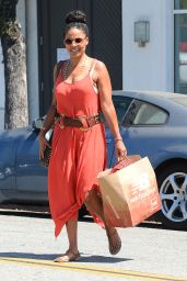 Sanaa Lathan Style - Shops in Beverly Hills 8/31/2016