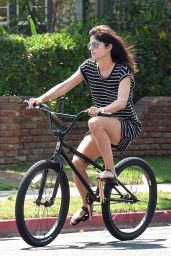 Selma Blair - Riding a Bike in Los Angeles 9/5/2016