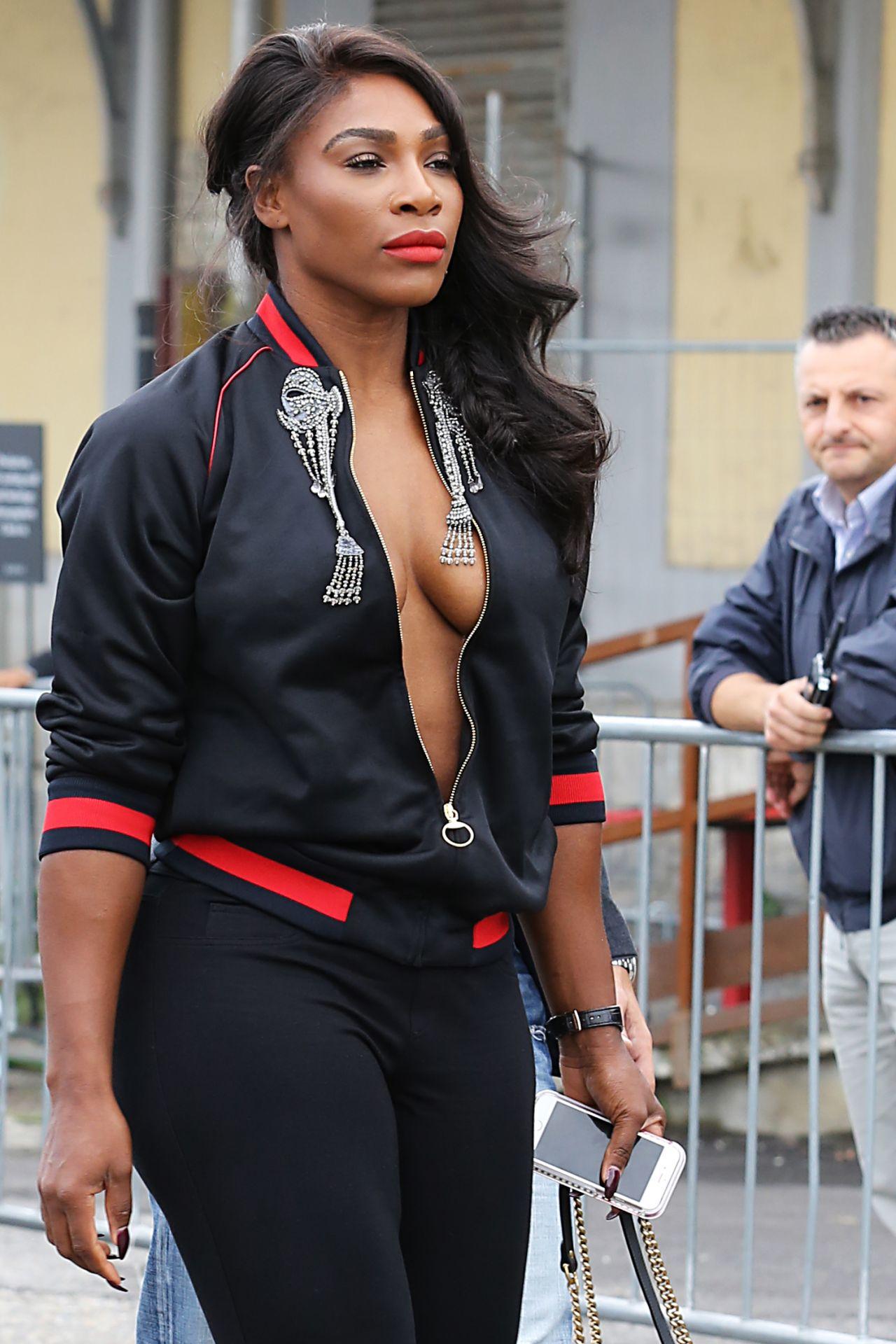 Serena Williams - Arriving at Gucci Spring/Summer 2017 ...