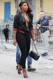 Serena Williams - Arriving at Gucci Spring/Summer 2017 Women Fashion in Milan 9/21/2016