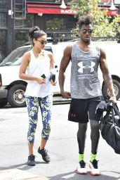 Shanina Shaik at a Gym in New York City 8/31/2016