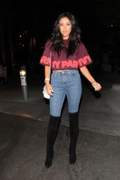 Shay Mitchell at the Beyonce Concert at Dodger