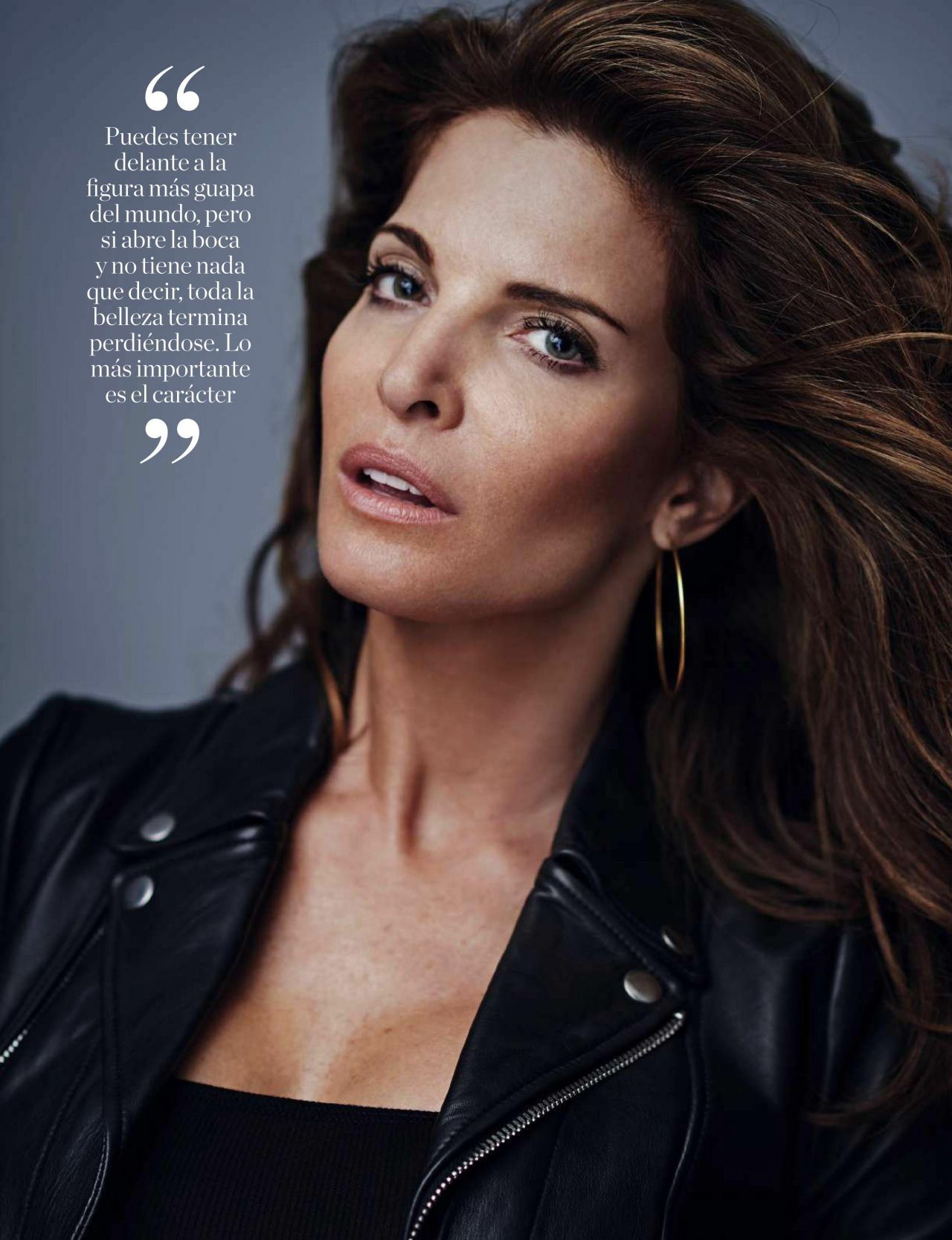 Stephanie Seymour Elle Magazine Espa 241 A October 2016 Issue