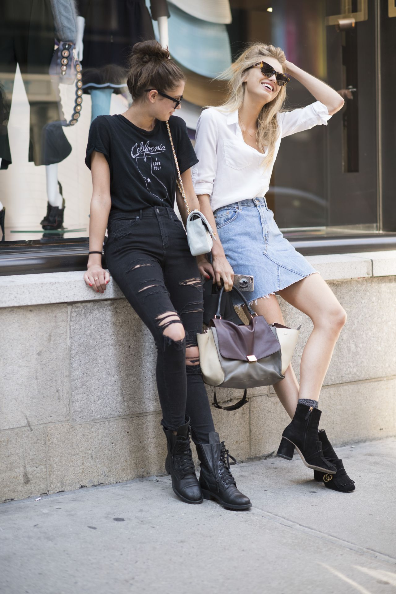 Taylor Hill And Romee Strijd Urban Style Manhattan Ny