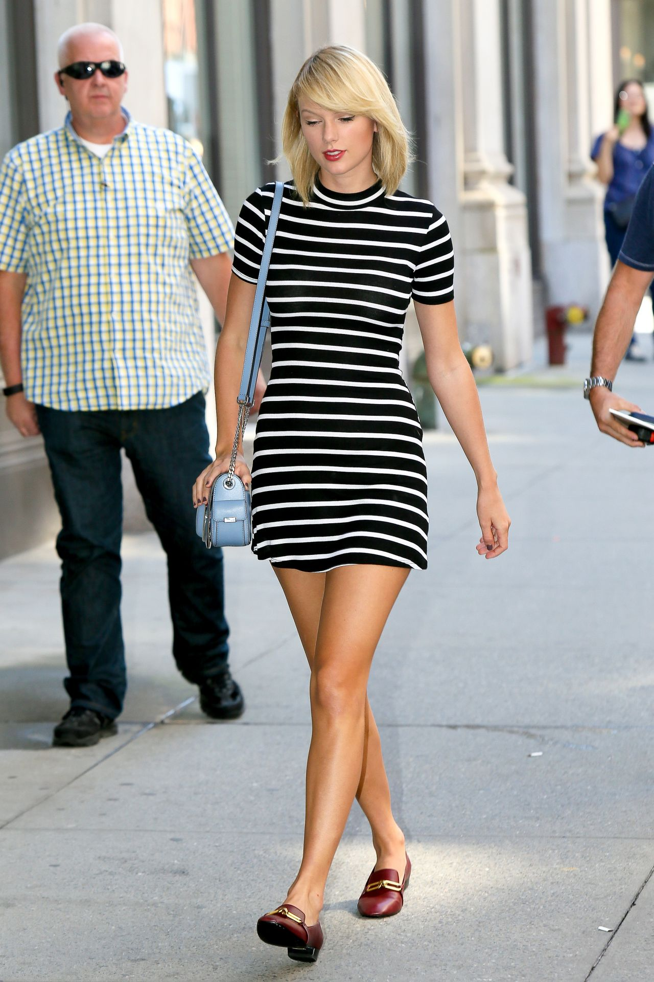 Taylor Swift In Mini Dress Out In New York 09 14 2016
