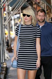 Taylor Swift in Mini Dress - Out in New York 09/14/2016