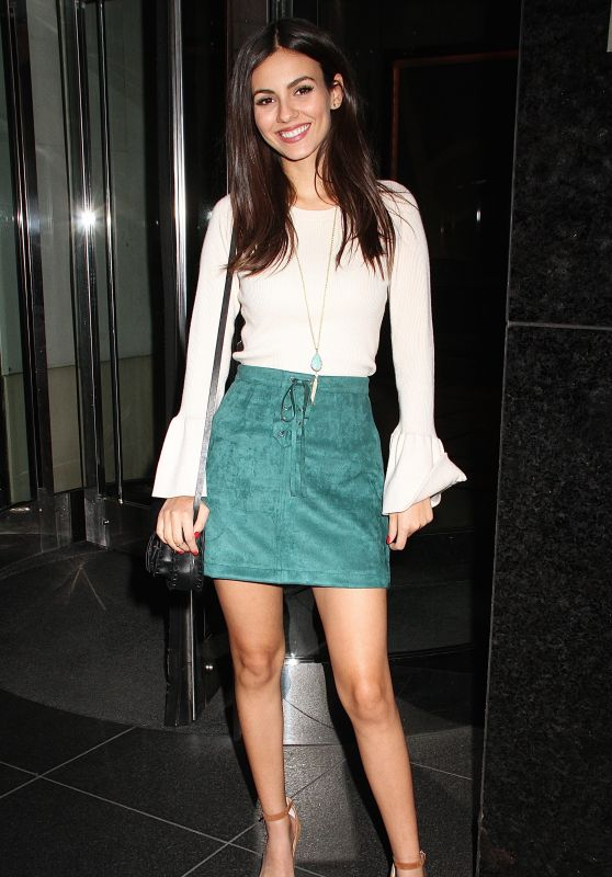 Victoria Justice in Mini Skirt - at Her Hotel in NYC 9/26/ 2016