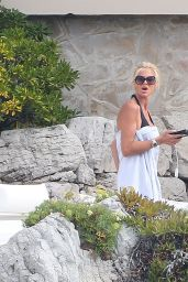 Victoria Silvstedt in a Bikini at a Pool in France 9/4/2016