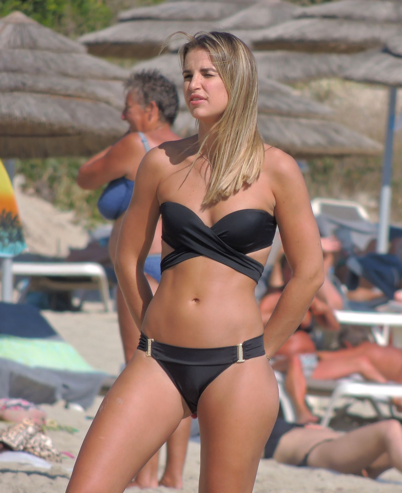 Vogue Williams In Black Bikini On Nissi Beach In Ayia Napa -9689