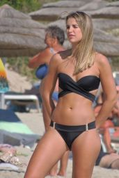 Vogue Williams in Black Bikini on Nissi Beach in Ayia Napa, Cyprus 9/13/2016