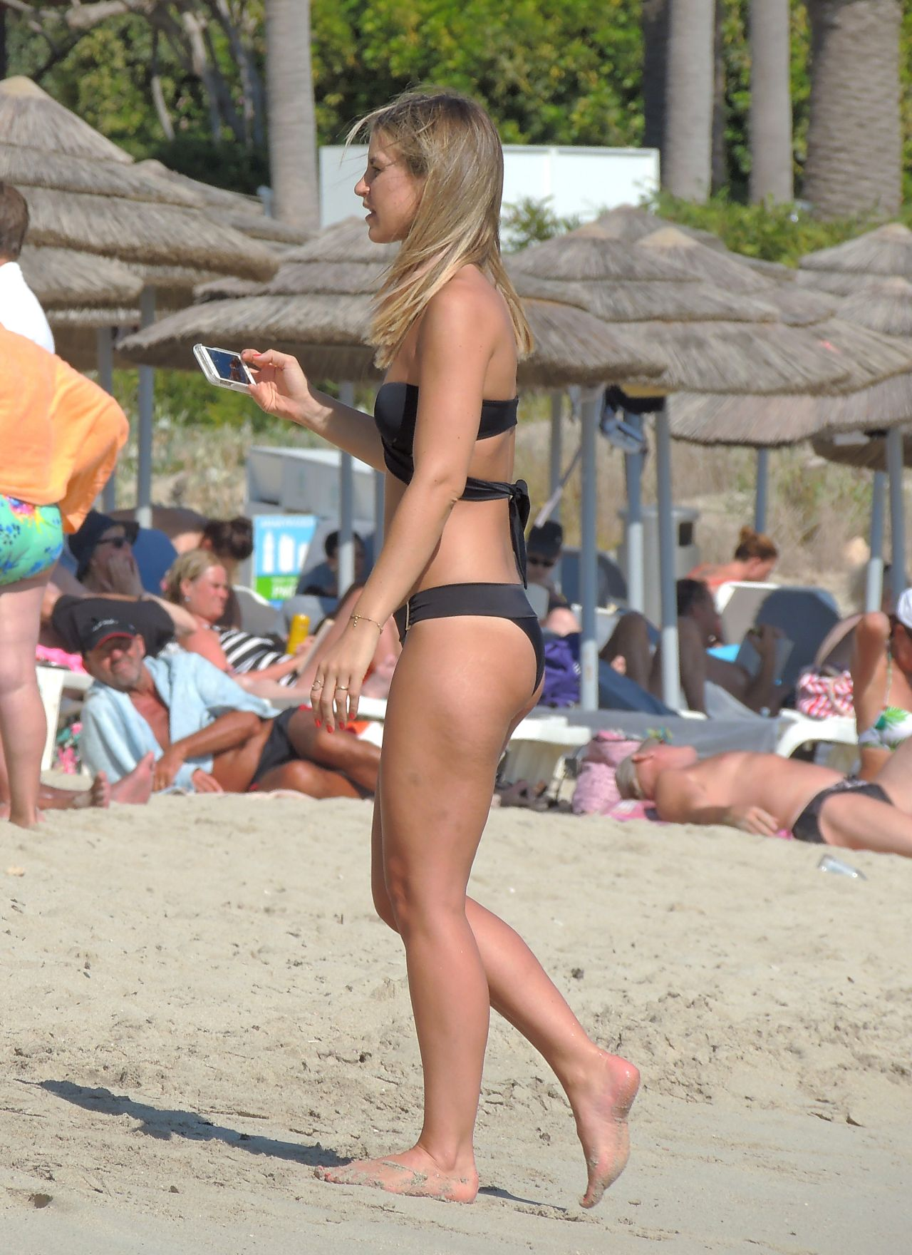 Vogue Williams In Black Bikini On Nissi Beach In Ayia Napa -5117
