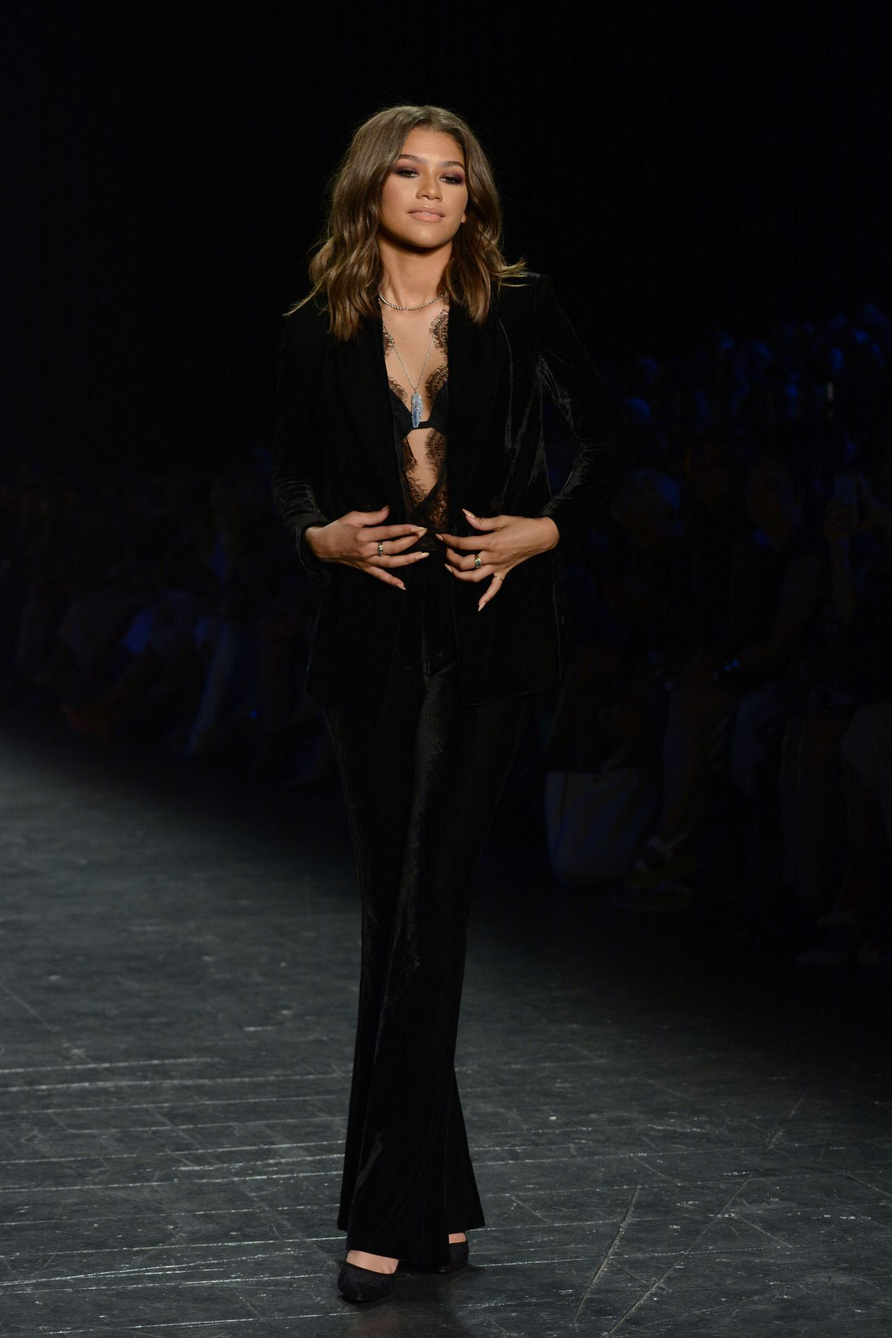 zendaya coleman project runway fashion show new york