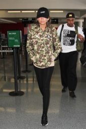 Zendaya Coleman Travel Outfit - LAX Airport in LA 9/8/2016