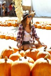 Alessandra Ambrosio at Mr. Bones Pumpkin Patch in Culver City 10/08/2016