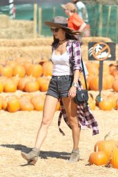 Alessandra Ambrosio at the Pumpkin Patch in Los Angeles 10/8/2016