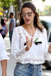 Alessandra Ambrosio Casual Style - Out in Santa Monica 10/7/2016