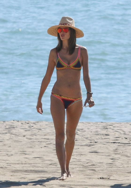 Alessandra Ambrosio in Bikini - Beach in California 10/23/ 2016