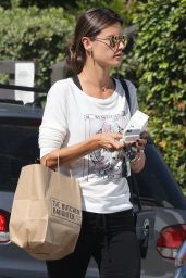 Alessandra Ambrosio in Leggings - Leaving The Butcher
