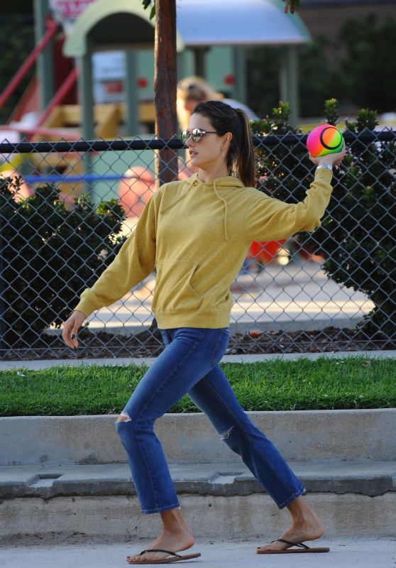 Alessandra Ambrosio Playing With Her Kid - Los Angeles, October 2016