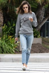 Alessandra Ambrosio Street Style - Out in Santa Monica 10/11/2016
