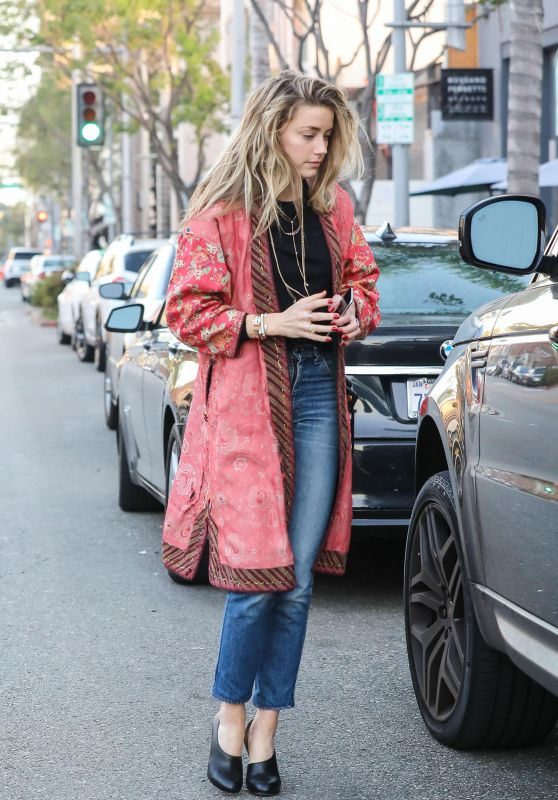 Amber Heard Casual Style - Out and About in Beverly Hills, October 2016