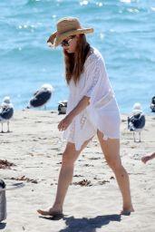 Amy Adams - Beach in Malibu 9/30/2016