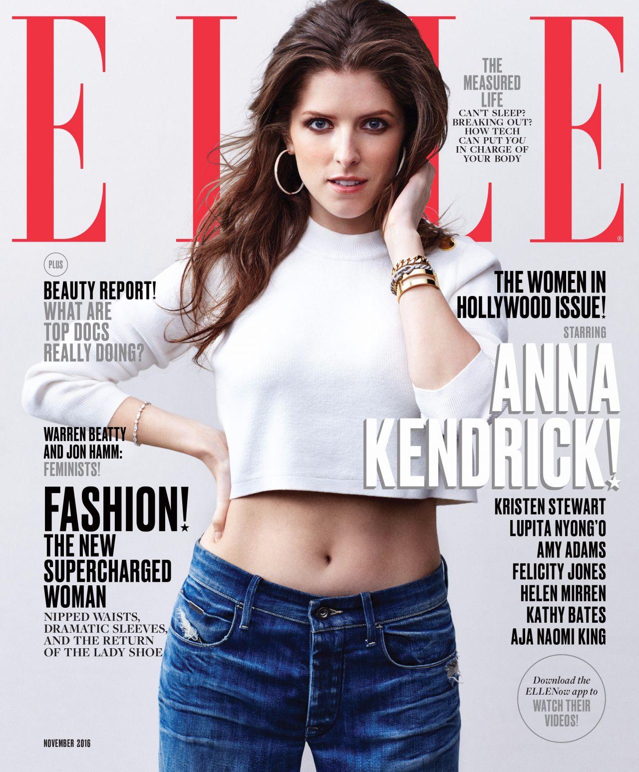 Anna Kendrick ELLE Magazine US November 2016
