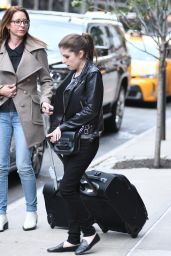 Anna Kendrick - Leaving her Hotel in Manhattan in New York City 10/28/2016