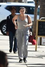 Ariel Winter in a Grey Singlet and Trackpants - L.A. 10/17/ 2016
