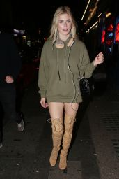 Ashley James - Arriving at Lights of Soho on Brewer Street in London 10/207/ 2016