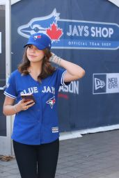 Bailee Madison - Toronto Blue Jays vs Cleveland Indians playoff Game 5 in Toronto