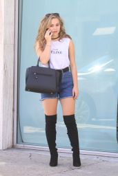 Brec Bassinger Chic Outfit - Out in Beverly Hills, September 2016