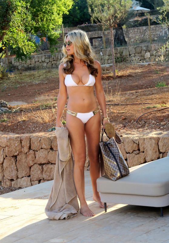 Caprice Bourret Bikini Candids - Ibiza, October 2016