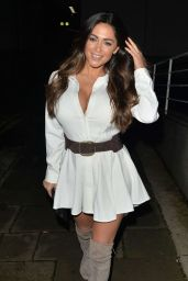 Casey Batchelor - Outside a Restaurant in Mayfair 10/17/2016