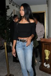 Chanel Iman – Parties at The Delilah Club in West Hollywood 10/15/ 2016