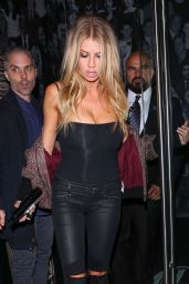 Charlotte McKinney Night Out Style - Leaving the Catch in West Hollywood 10/5/2016
