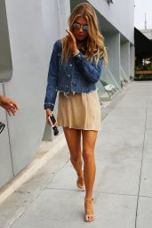 Charlotte McKinney Shows Off Her Legs - Out in Beverly Hills 10/15/ 2016