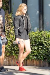 Chloe Grace Moretz Leggy in Shorts - Out For Breakfast in Los Angeles 10/18/ 2016