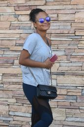 Christina Milian in SPandex -Out in Los Angeles 9/29/2016