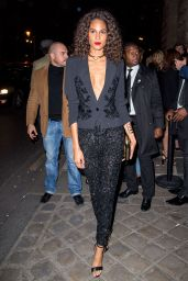 Cindy Bruna – L'Oreal Gold Obsession Party in Paris 10/2/2016