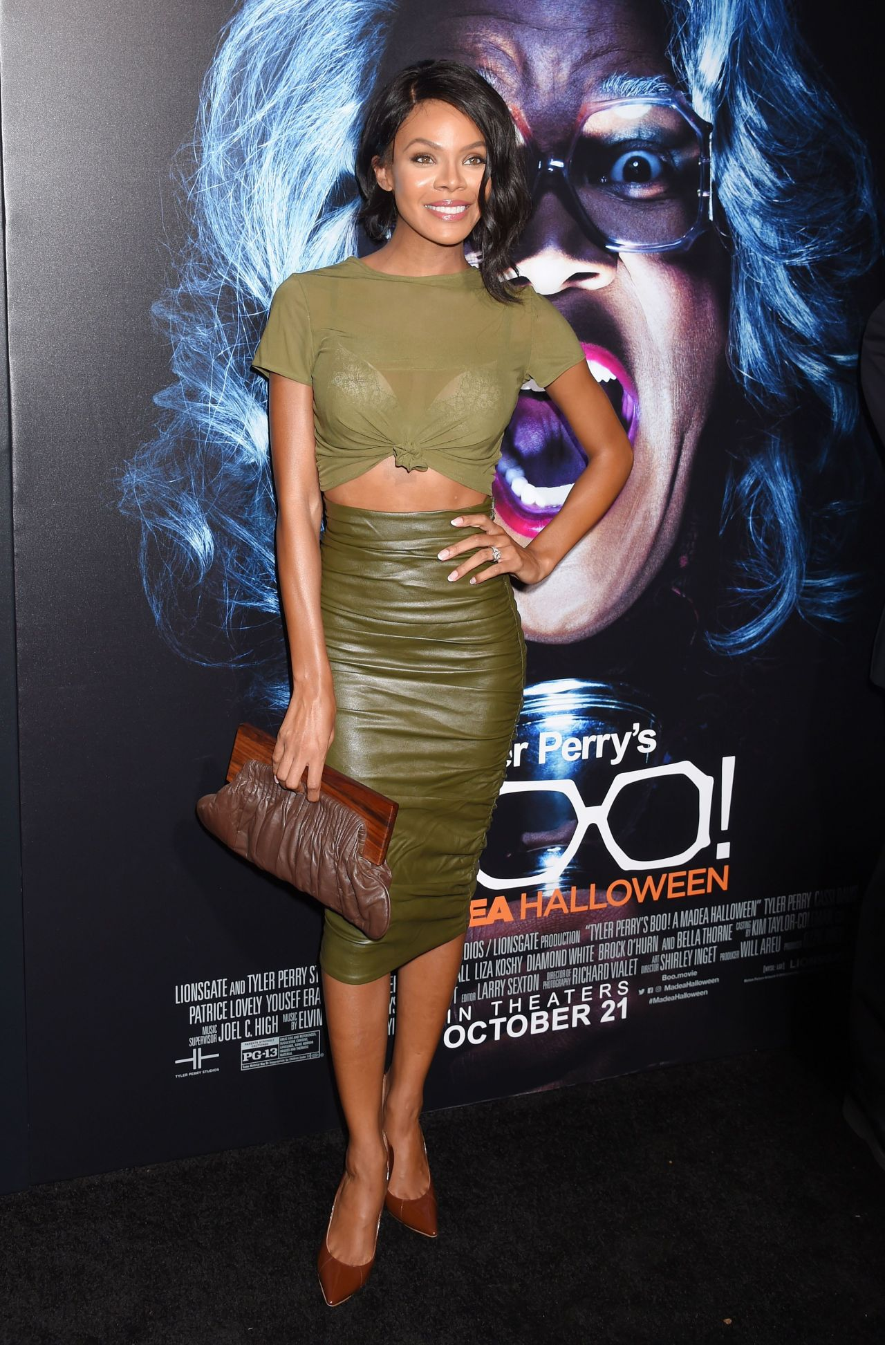 crystle stewart tyler perrys boo a madea halloween movie premiere in los angeles