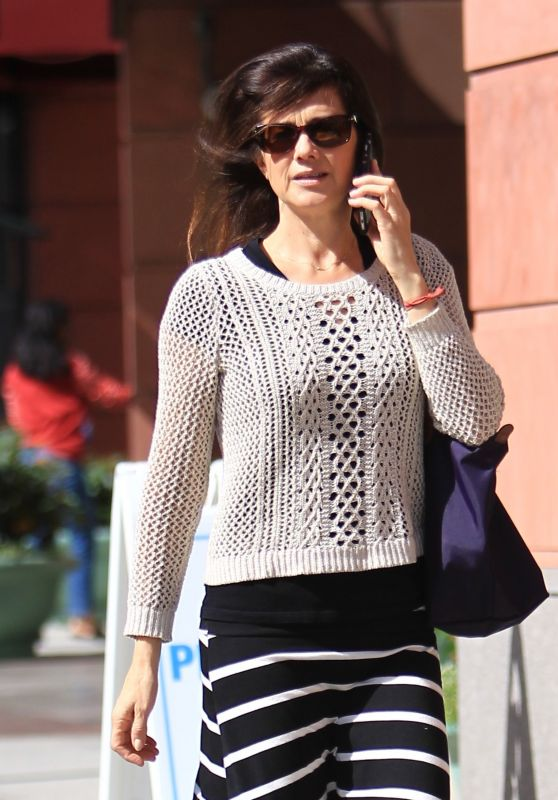 Daphne Zuniga Street Style - Out in Bevery Hills 10/4/2016