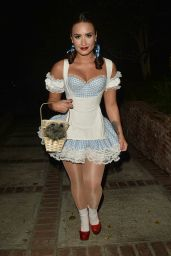 Demi Lovato at a Halloween Party in Los Angeles - 10/29/ 2016