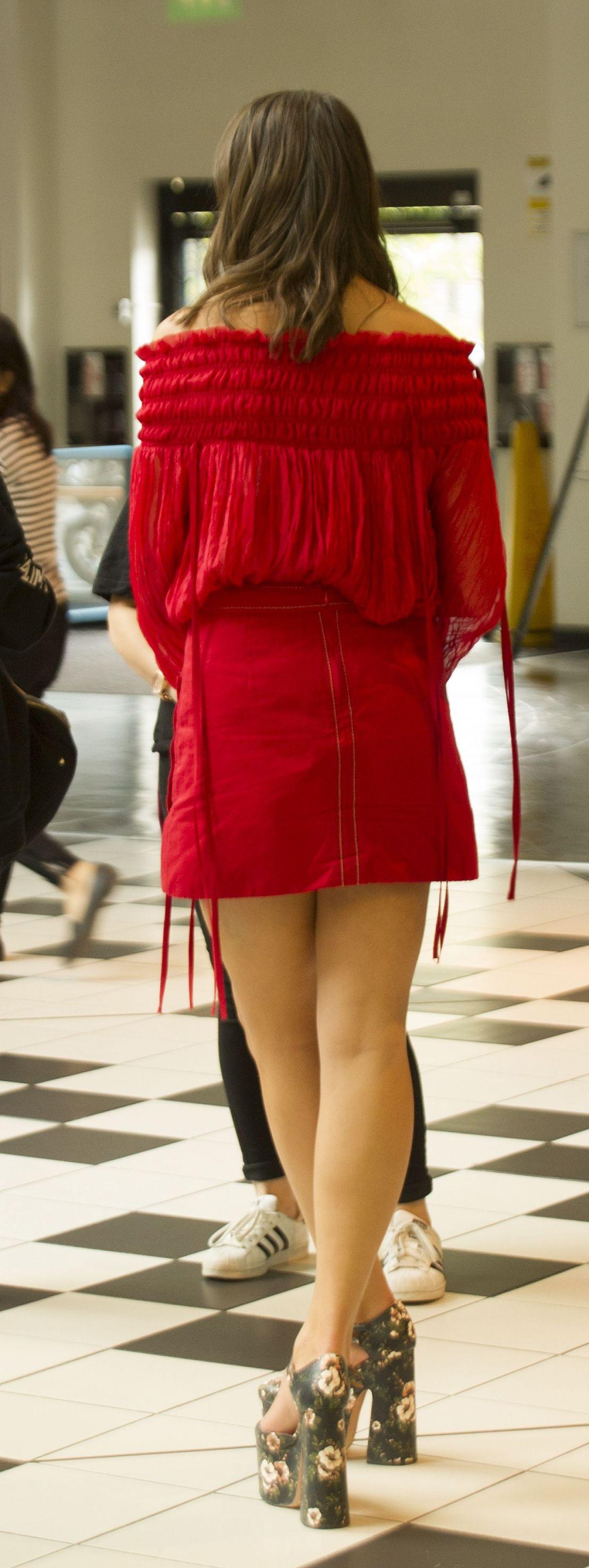 Dua Lipa In Red Mini Dress London 10 2 2016