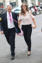 Elizabeth Hurley - Arrives At The BBC Broadcasting House in London 10/6/2016