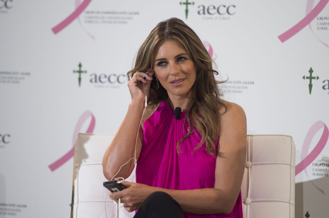 Elizabeth Hurley Breast Cancer Prevention Event In